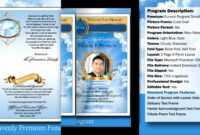 032 Free Obituary Template Download Funeral Program throughout Free Obituary Template For Microsoft Word