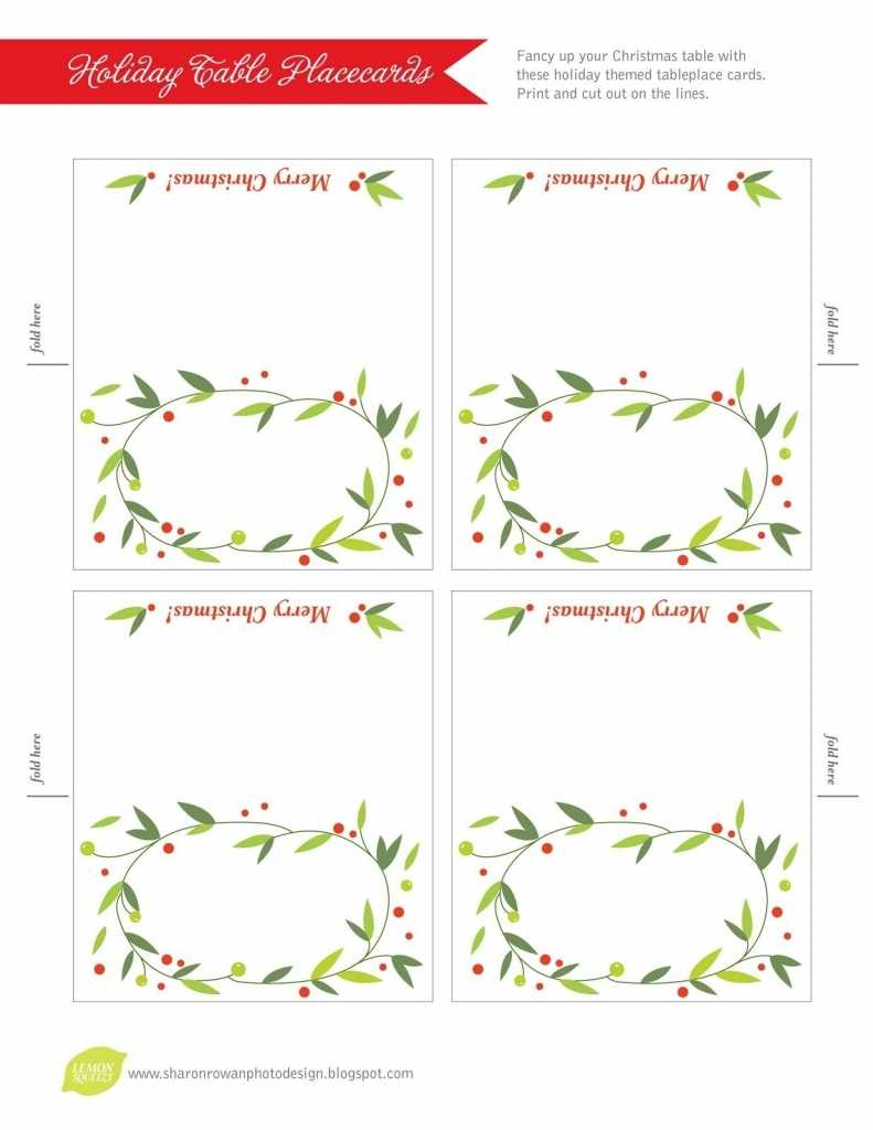 032 Free Printable Lemon Squeezy Day Place Cards Christmas In Fold Over Place Card Template