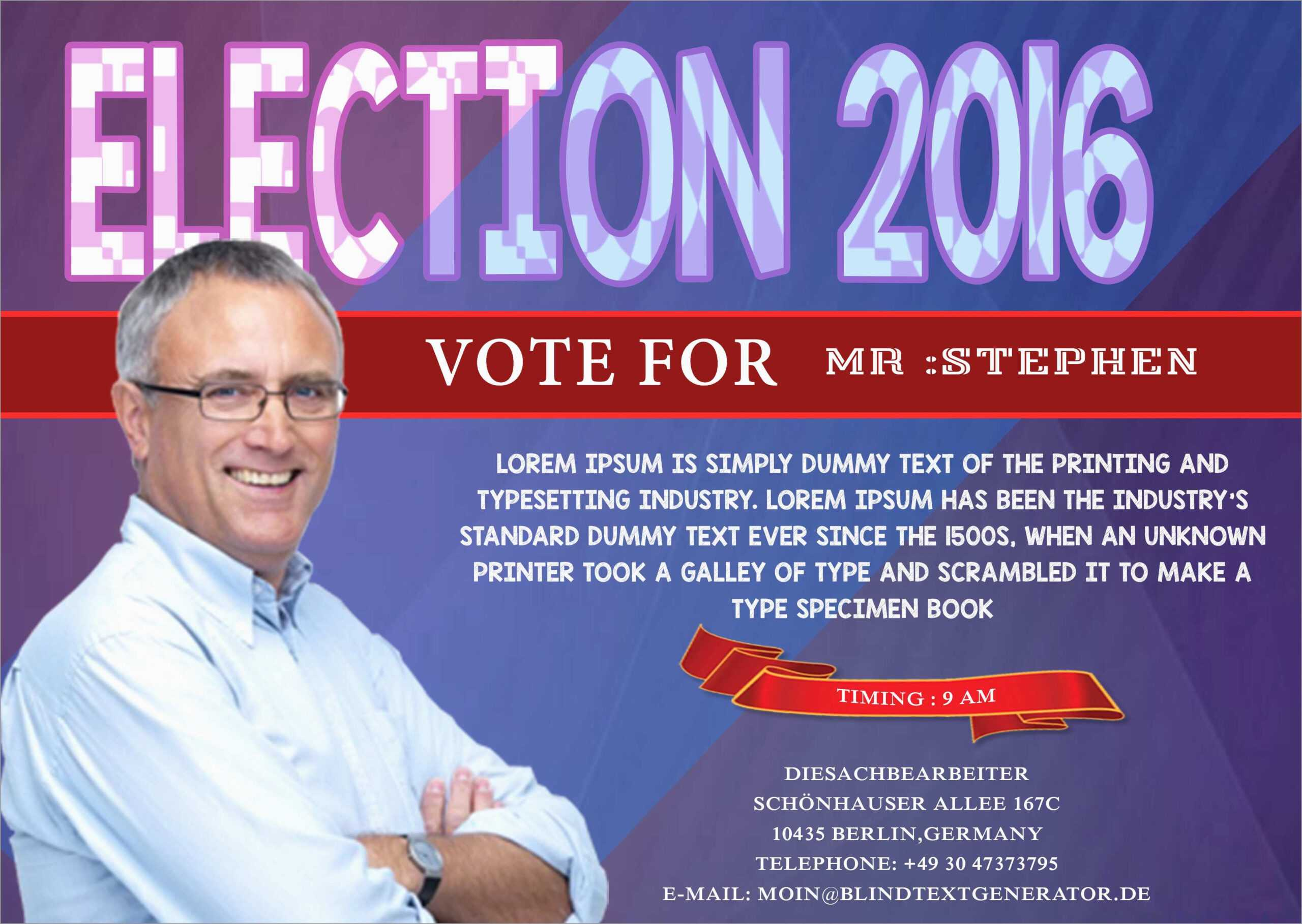 033 Campaign Poster Template Free Awesome With These Elegant In Free Election Flyer Template
