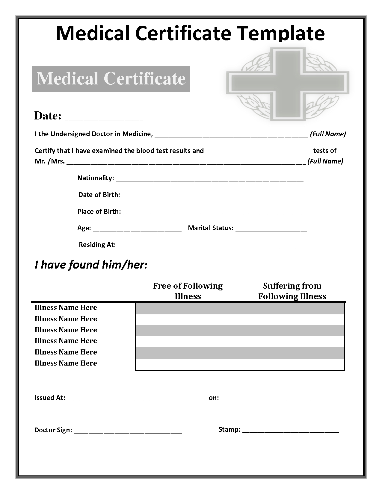 034 Free Doctors Note Template Australia Fake 142285 In Free Fake Medical Certificate Template