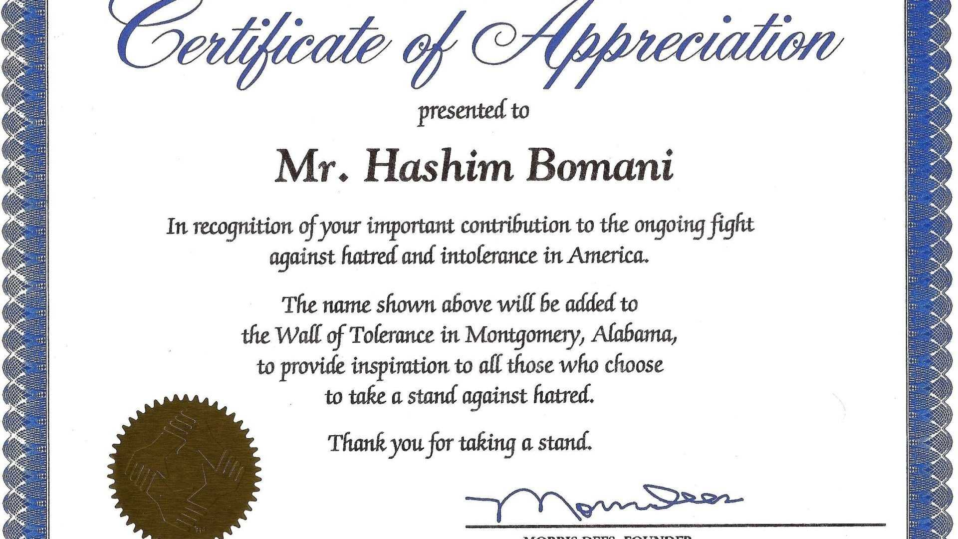 037 Certificates Of Appreciation Templates Free Sample Inside Free Funny Certificate Templates For Word