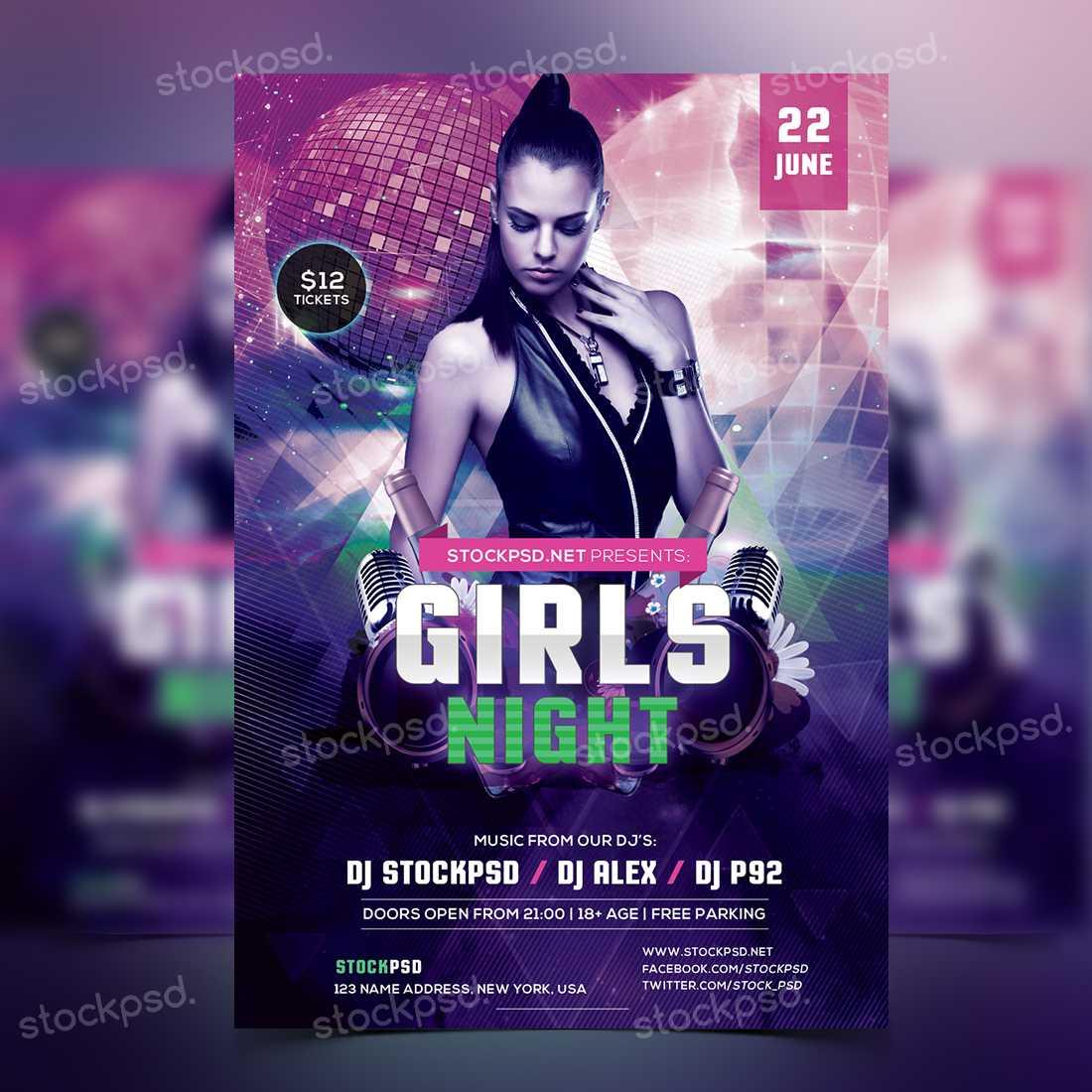 038 Free Nightclub Flyer Templates Template Striking Ideas Pertaining To Free Nightclub Flyer Templates