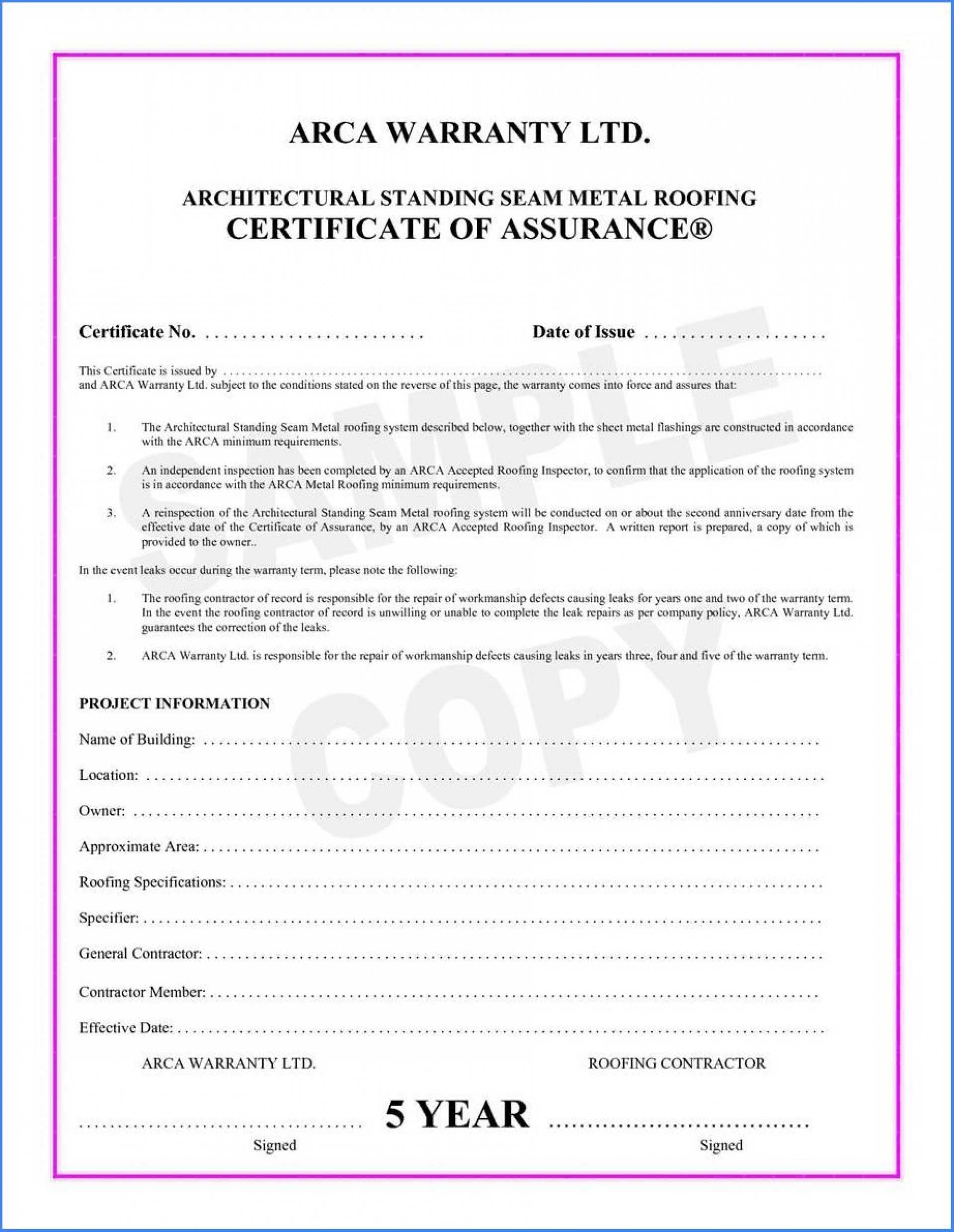 038 Template Ideas Certificate Of Final Completion Form For Within Construction Certificate Of Completion Template