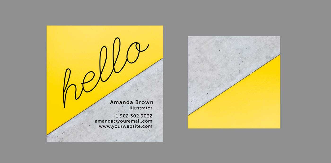10 Clean & Simple Business Card Templates Perfect For Any Intended For Freelance Business Card Template