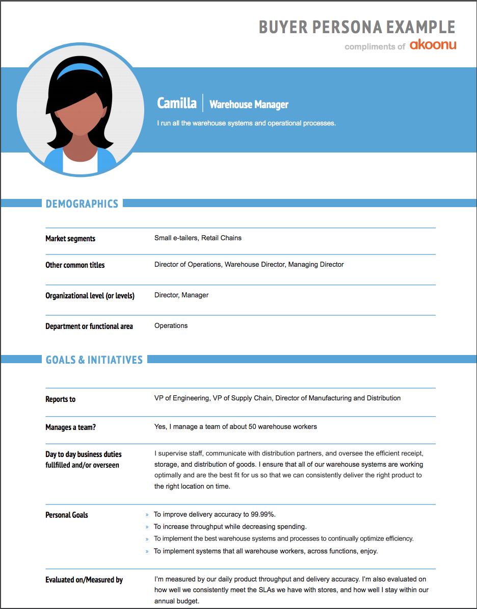 10 Customer Persona Tools & Templates – Content Harmony With Customer Persona Template