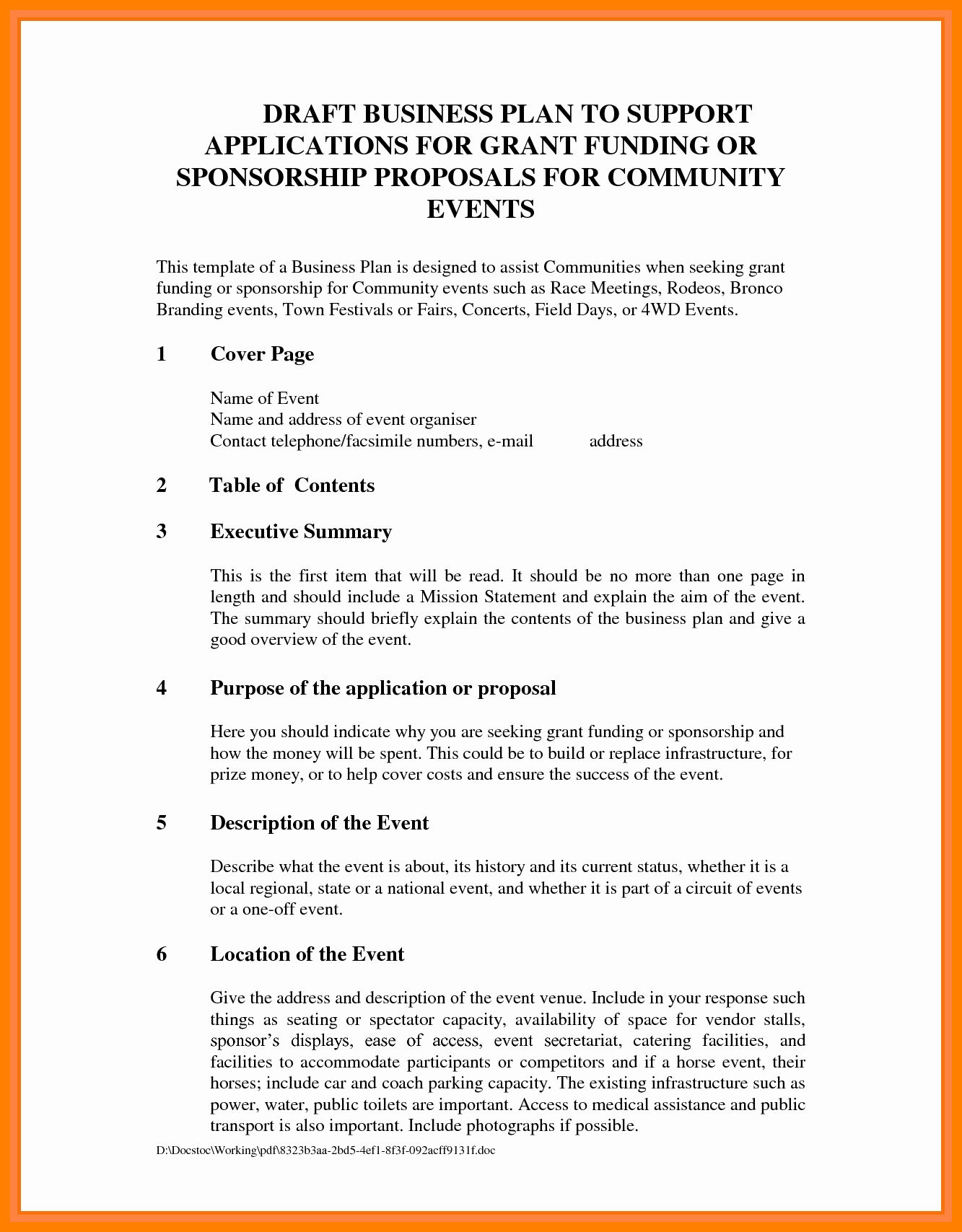 10+ Free Sponsorship Proposal Template | Marlows Jewellers Pertaining To Corporate Sponsorship Proposal Template