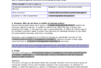 11.4 Conflict Of Interest Policy Template intended for Conflict Of Interest Policy Template