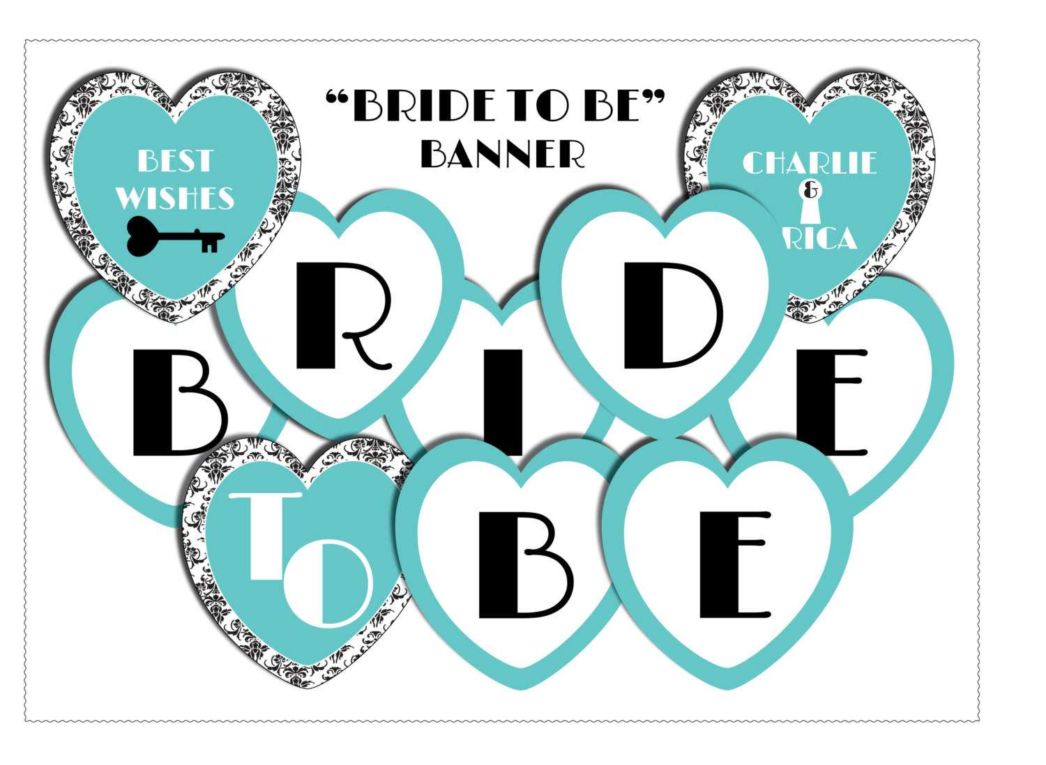 11 Best Photos Of Bride To Be Banner Template - Diy Bridal Regarding Free Bridal Shower Banner Template