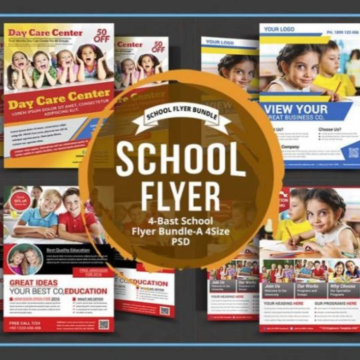 11+ Daycare Flyers Template Psd, Ai And Pdf Format Editable Inside Daycare Flyers Templates Free