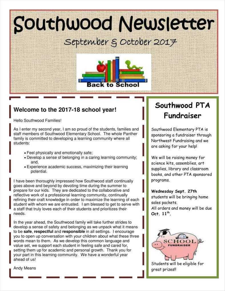 11+ Kindergarten Newsletter Templates Free Samples, Examples In Free School Newsletter Templates