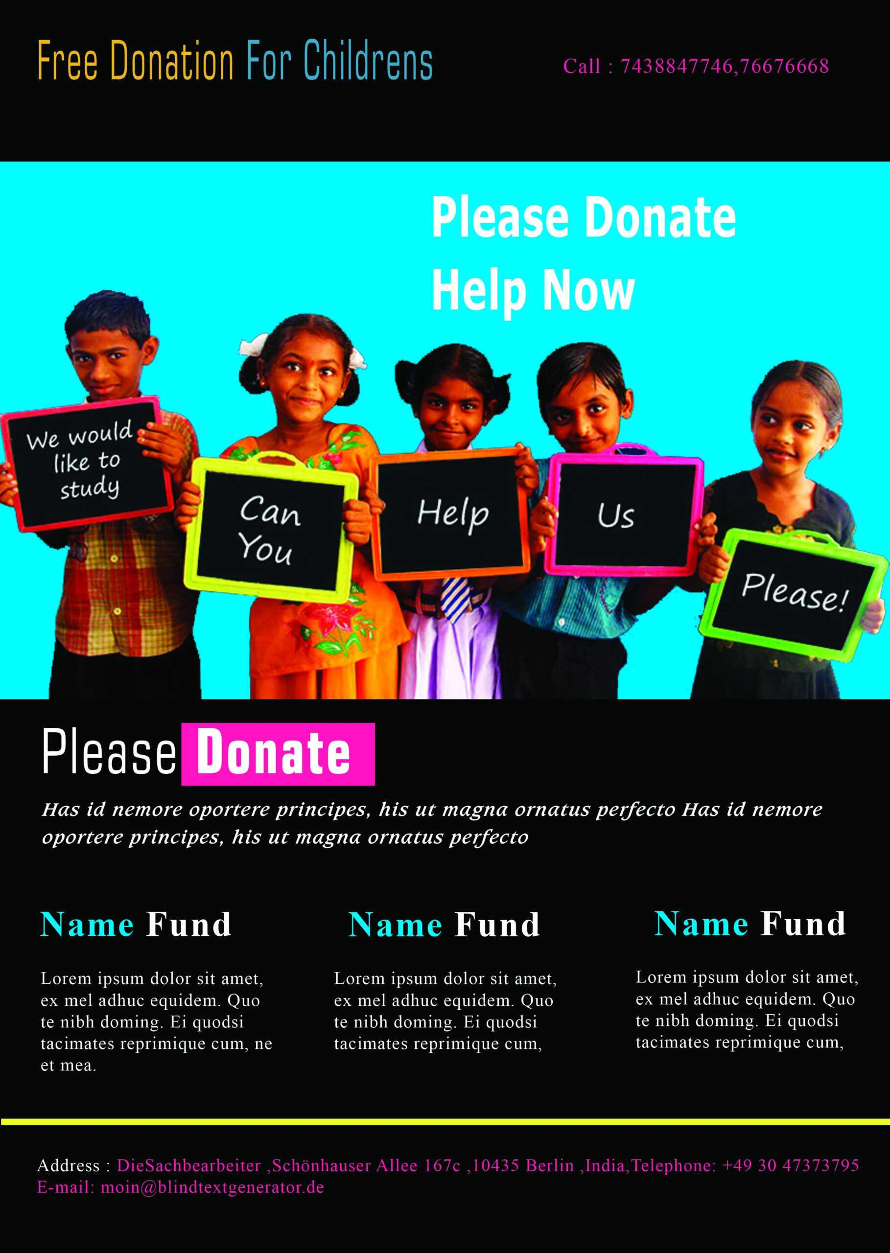 12 Adorable Donation Flyers For Your Fundraising Events Regarding Donation Flyer Template