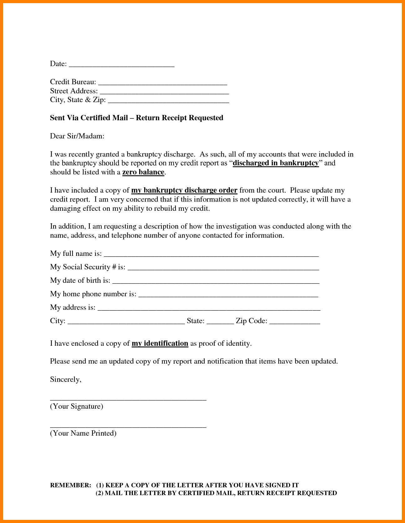 13 Images Of Dispute Credit Report Form Template In Credit Dispute Letter Template