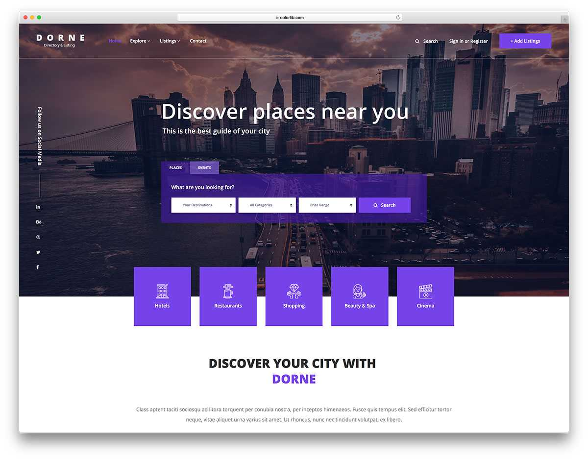 14 Best Free Directory Website Templates 2019 - Colorlib Throughout Free Business Directory Template