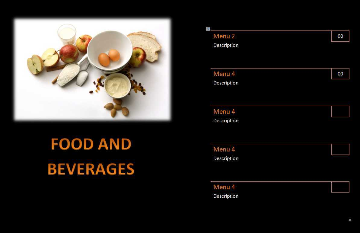 15 Free Restaurant And Cafe Menu Templates For Word In Free Cafe Menu Templates For Word