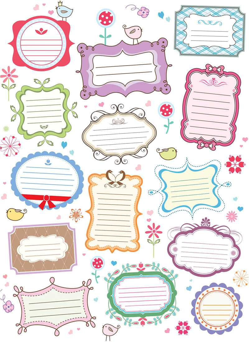 15 Free Vector Decorative Labels Images - Free Decorative Within Decorative Label Templates Free
