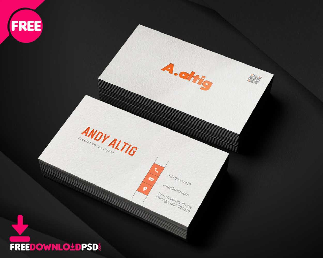 150+ Free Business Card Psd Templates With Freelance Business Card Template