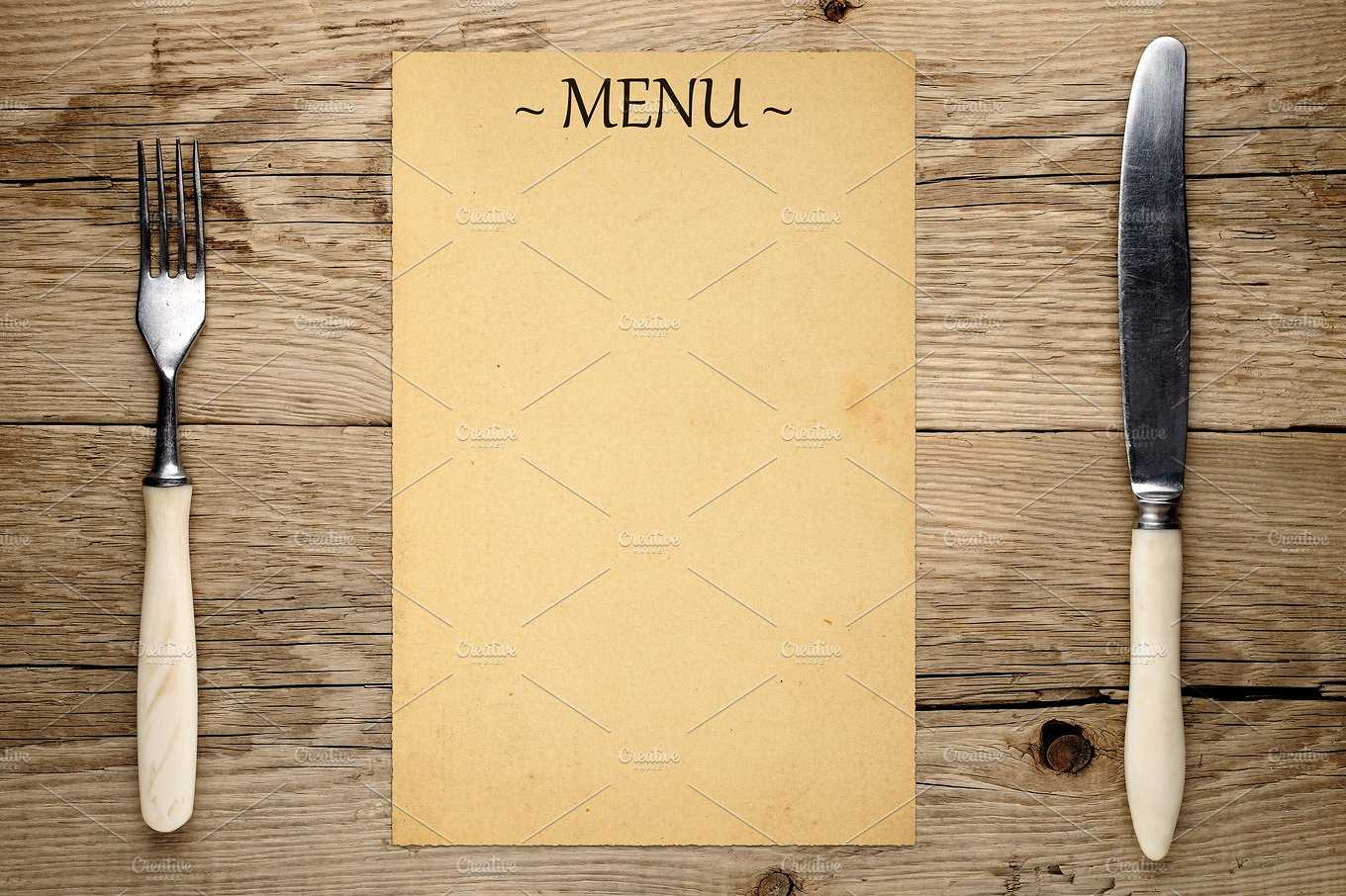 16+ Blank Menu Designs – Psd, Vector Format Download With Empty Menu Template