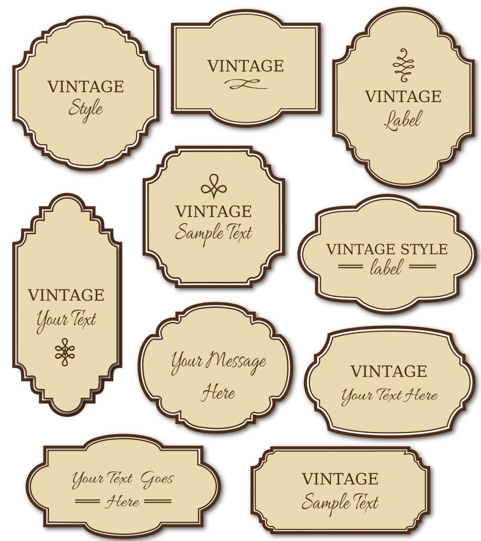 17 Free Vintage Tag Label Template Images - Vintage With Regard To Free Printable Vintage Label Templates