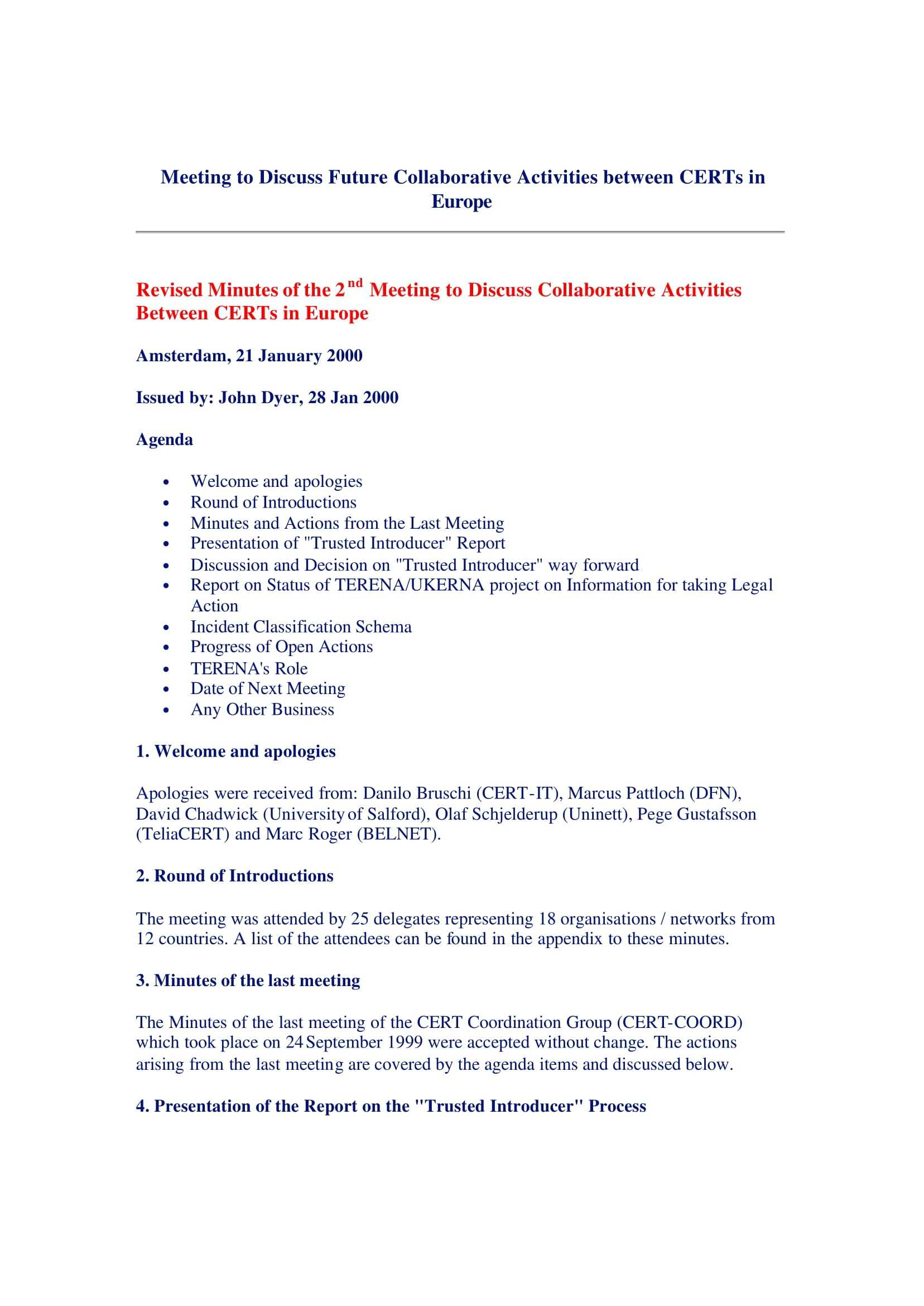 17+ Professional Meeting Minutes Templates - Pdf, Word Throughout Corporate Minutes Template Word