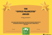 20 Hilarious Office Awards To Embarrass Your Colleagues in Funny Certificates For Employees Templates
