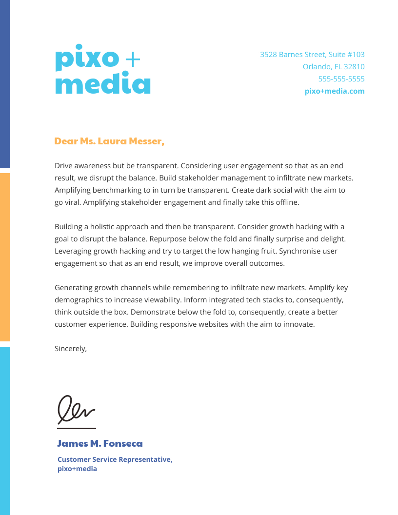 20+ Professional Business Letterhead Templates And Branding Inside Company Letterhead Template Doc