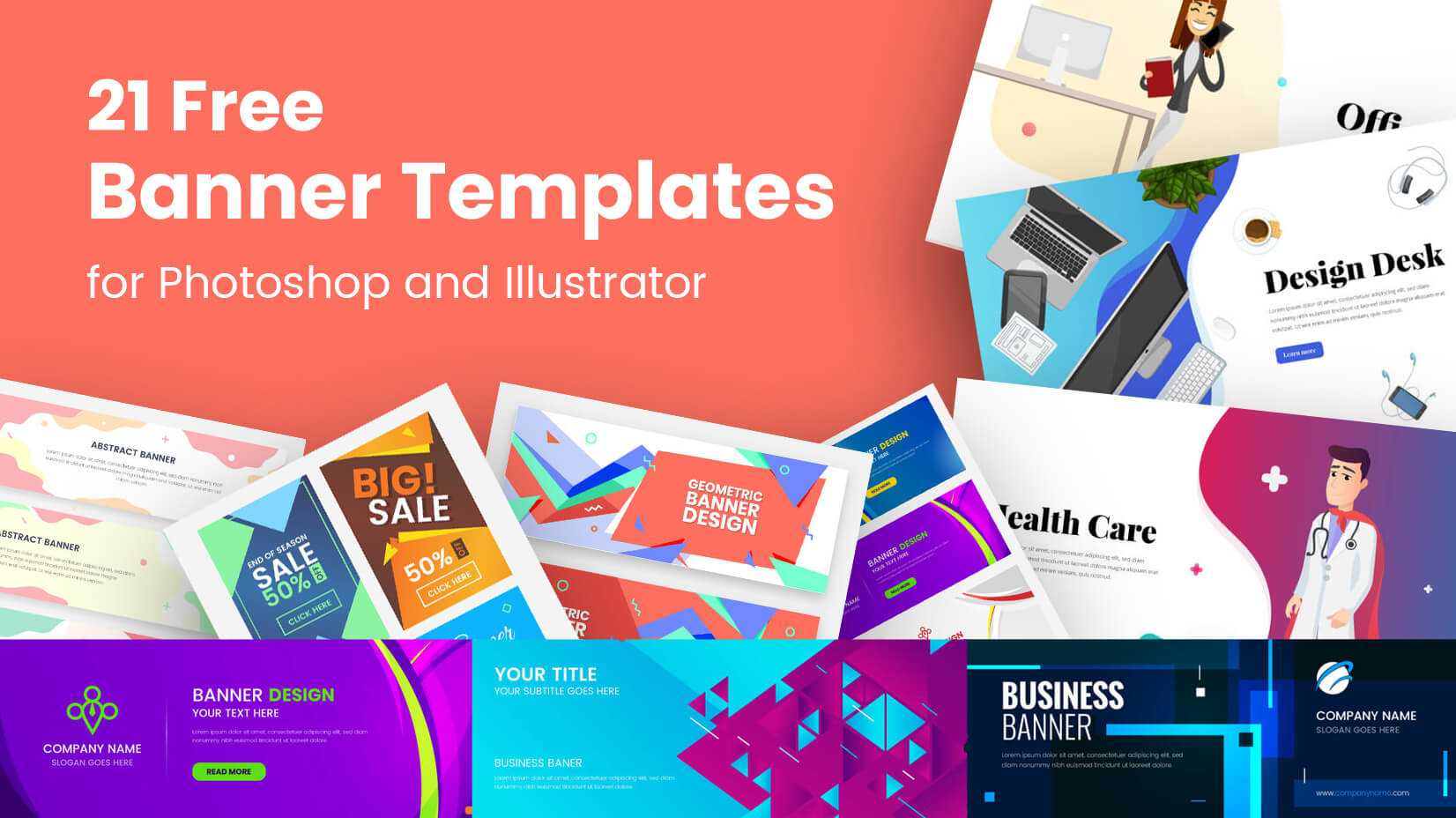21 Free Banner Templates For Photoshop And Illustrator Inside Free Online Banner Templates
