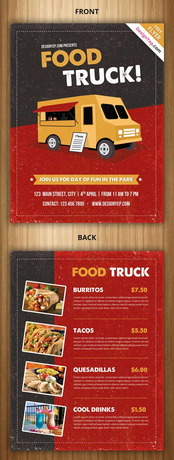 21 Free Food Menu Templates For Restaurants – Designyep Throughout Food Truck Menu Template