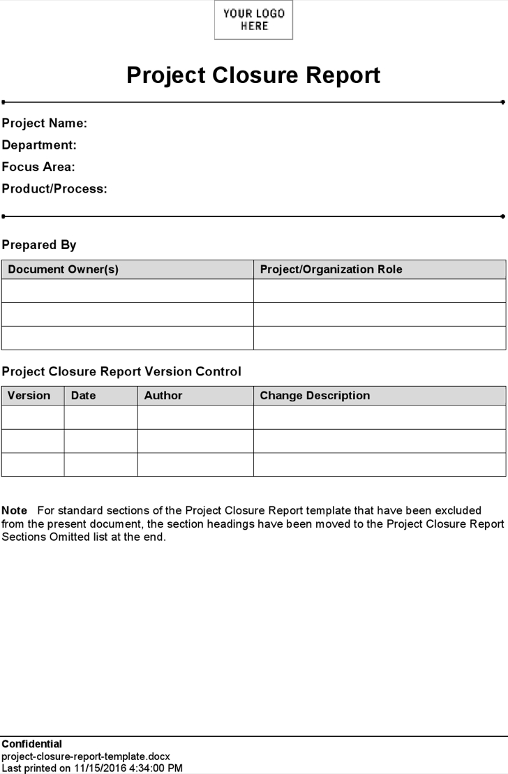 24 Images Of Project Closure Template | Vanscapital With Closure Report Template