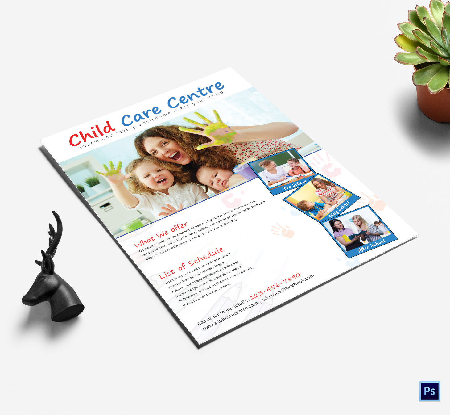 25 Beautiful Free & Paid Templates For Daycare Flyers Within Daycare Flyers Templates Free