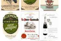 27 Images Of Ty Label Template | Somaek in Diy Wine Label Template