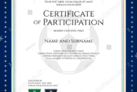 28+ Certificate Of Participation Designs & Templates – Psd throughout Free Templates For Certificates Of Participation
