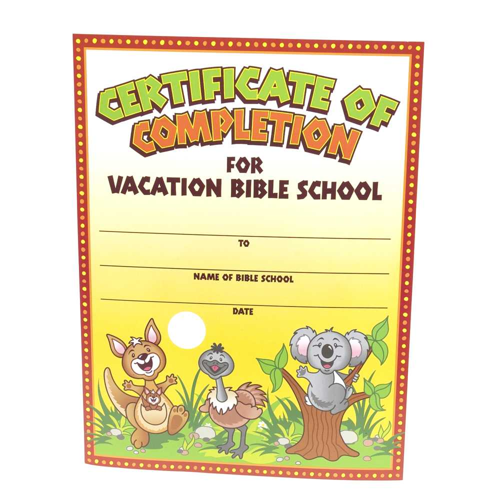 28+ [ Vbs Certificate Template ] | Vacation Bible School Pertaining To Free Vbs Certificate Templates