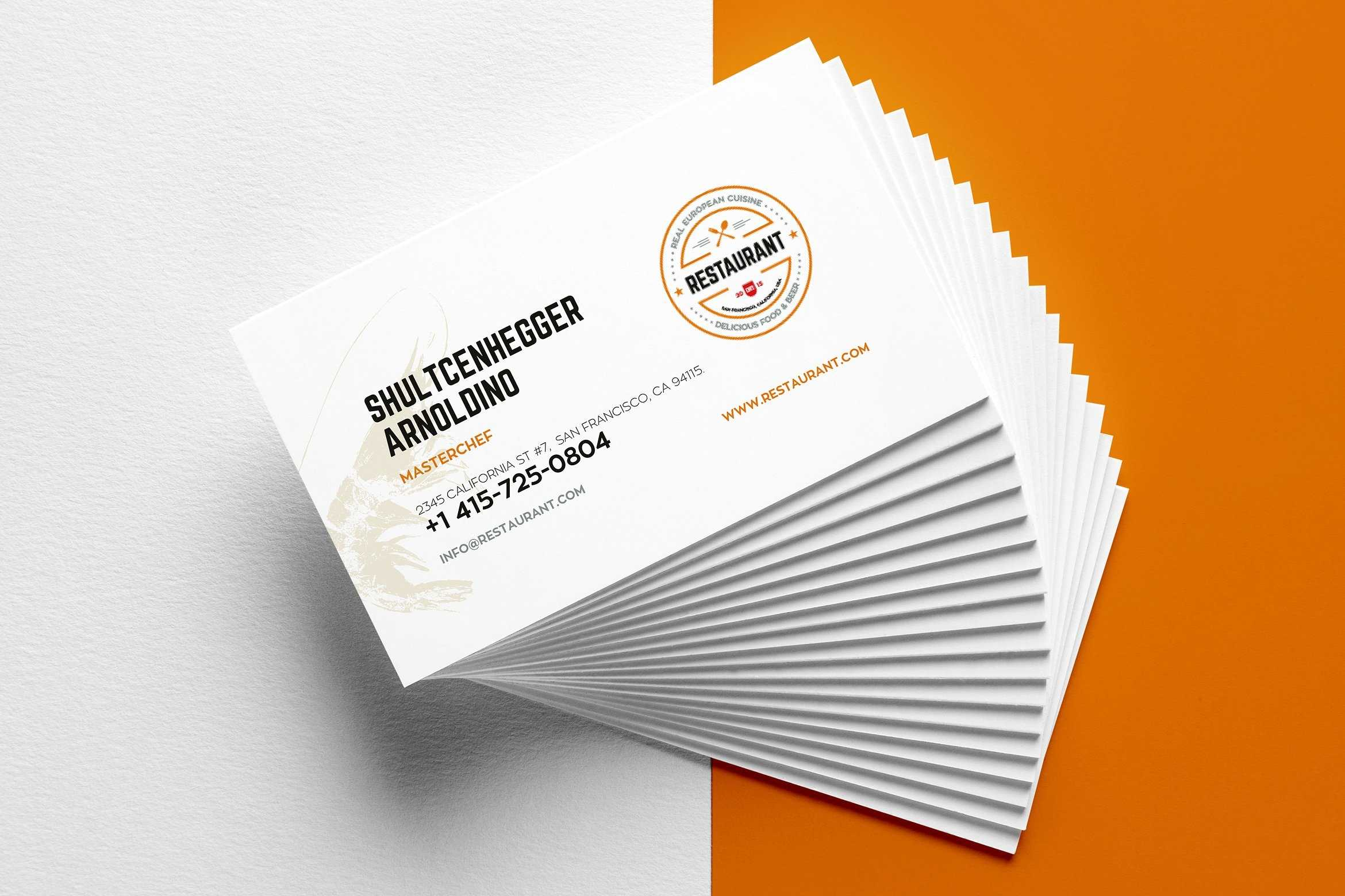 29+ Creative Restaurant Business Card Templates - Ai, Apple Throughout Free Blank Business Card Template Word