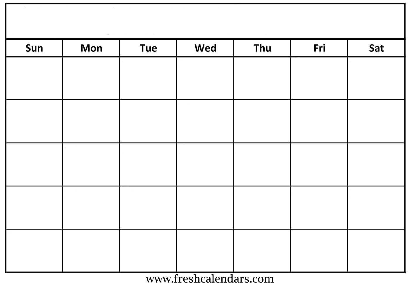 30 Blank Calendar Template 2019 | Andaluzseattle Template Regarding Full Page Blank Calendar Template