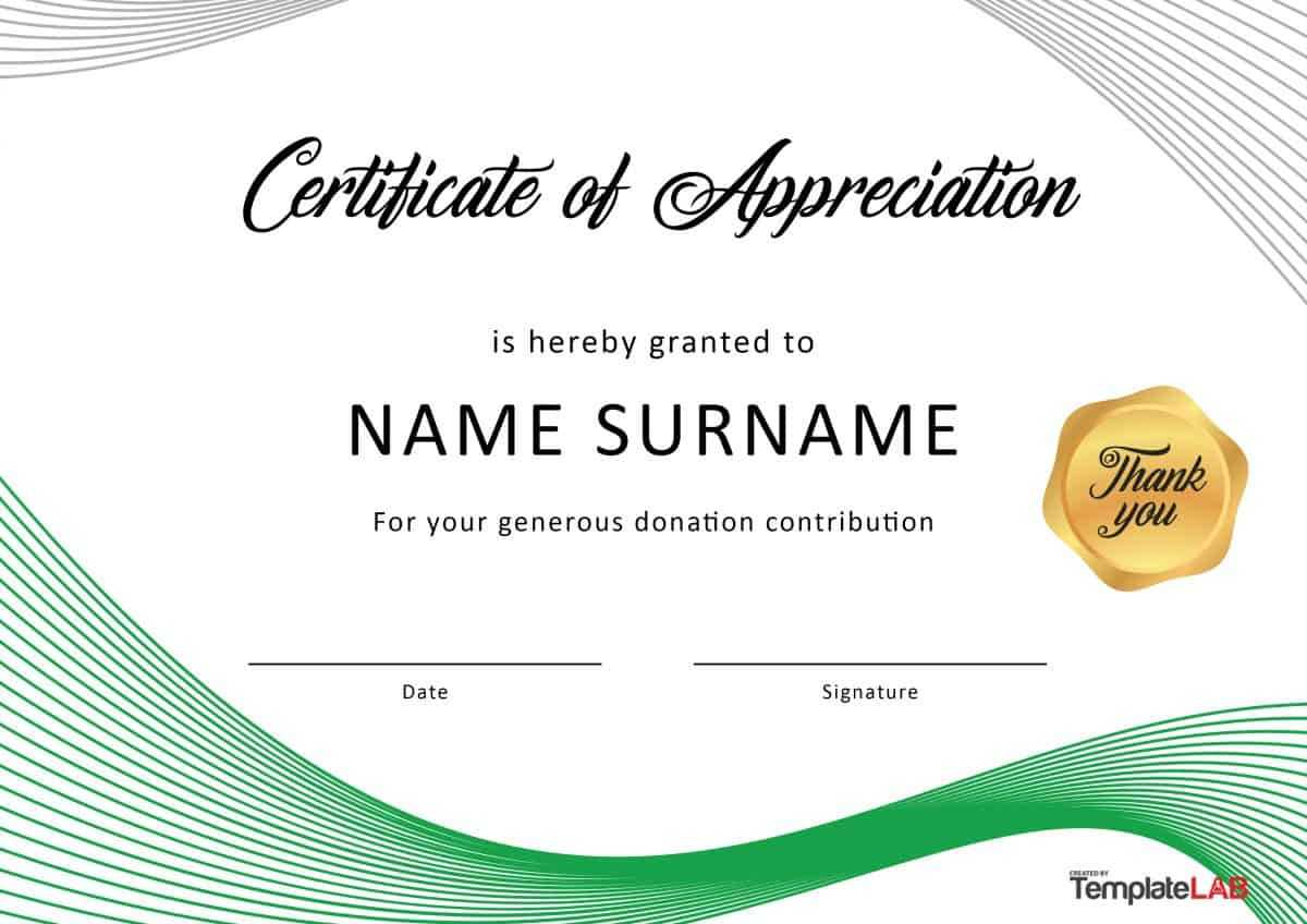 30 Free Certificate Of Appreciation Templates And Letters For Free Certificate Of Appreciation Template Downloads