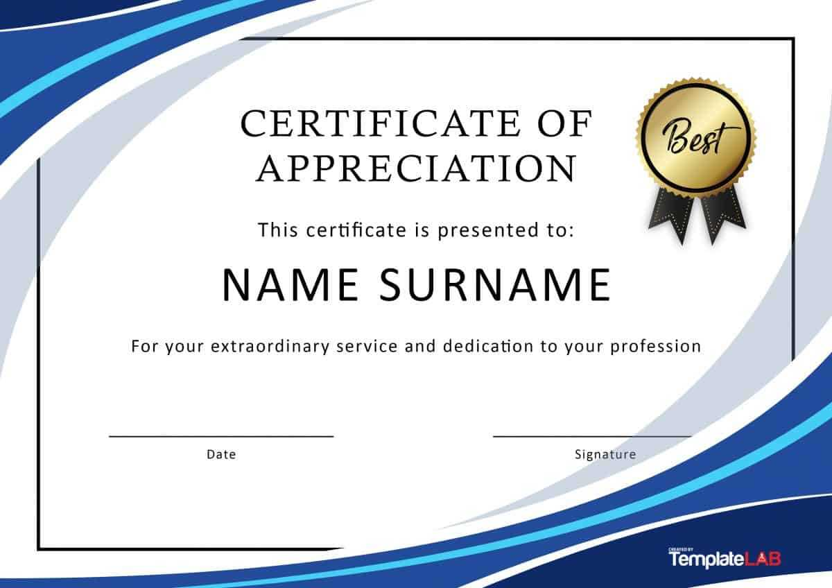 30 Free Certificate Of Appreciation Templates And Letters Intended For Free Certificate Of Excellence Template