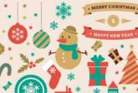 30+ Free Christmas Vector Graphics & Party Flyer Templates regarding Free Christmas Flyer Templates Word