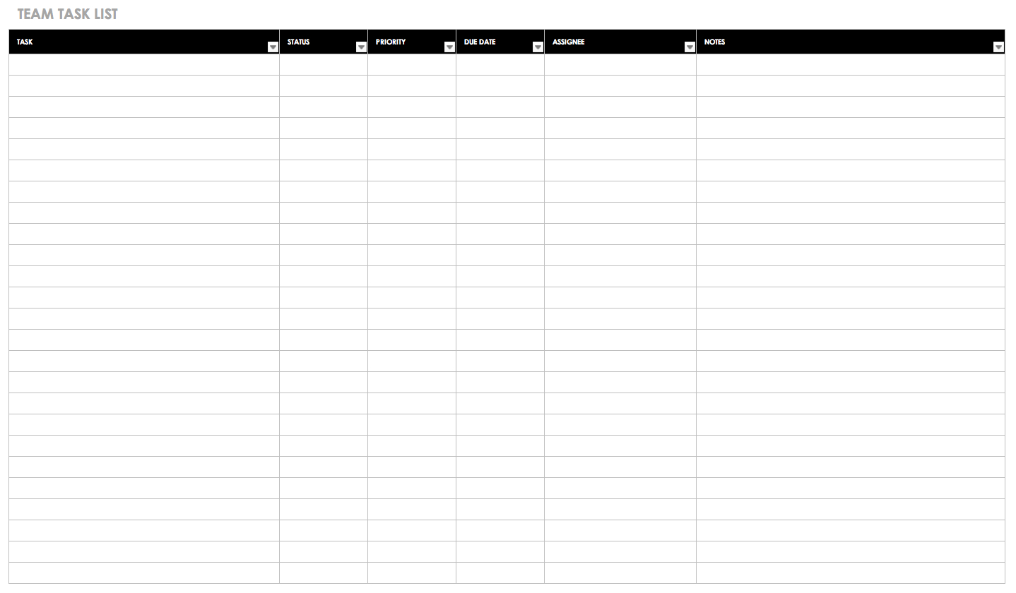 30+ Free Task And Checklist Templates   Smartsheet In Daily Task List Template Word