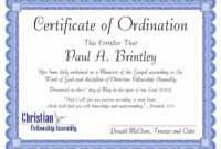 30 Fresh Minister License Certificate Template Pictures with Free Ordination Certificate Template