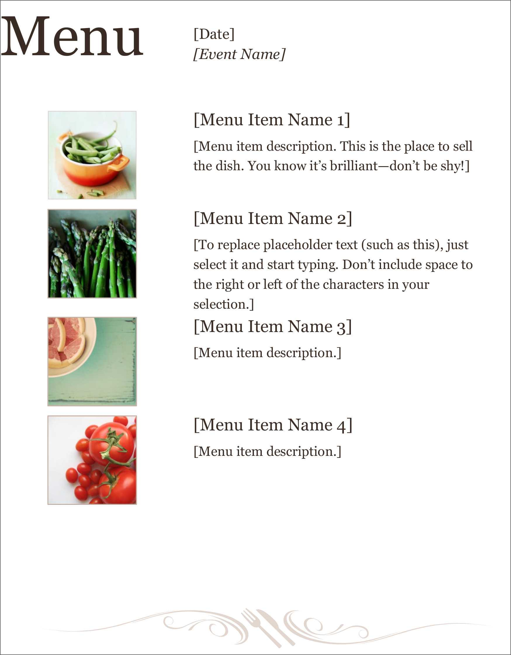 32 Free Simple Menu Templates For Restaurants, Cafes, And Pertaining To Free Restaurant Menu Templates For Microsoft Word