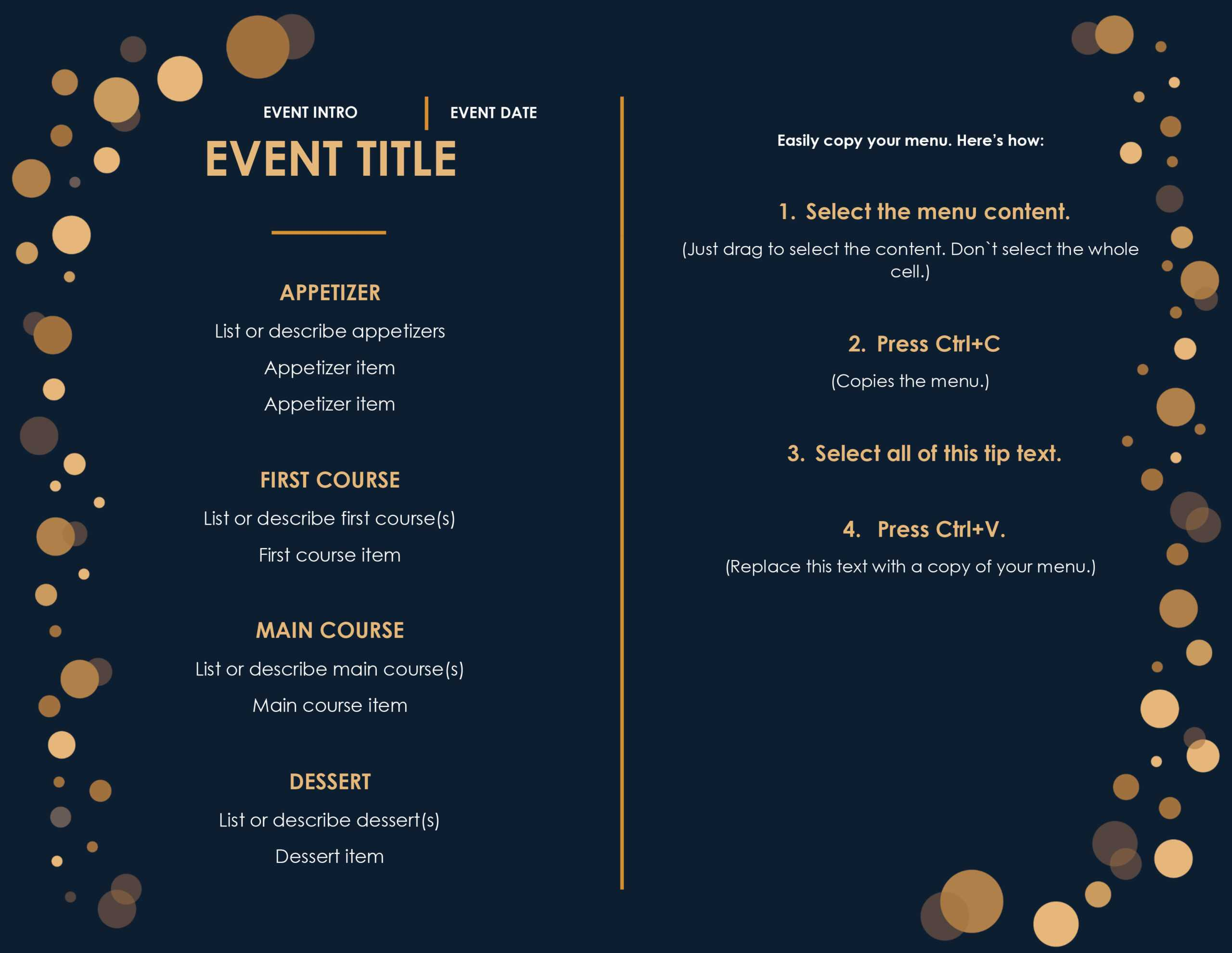 32 Free Simple Menu Templates For Restaurants, Cafes, And With Editable Menu Templates Free