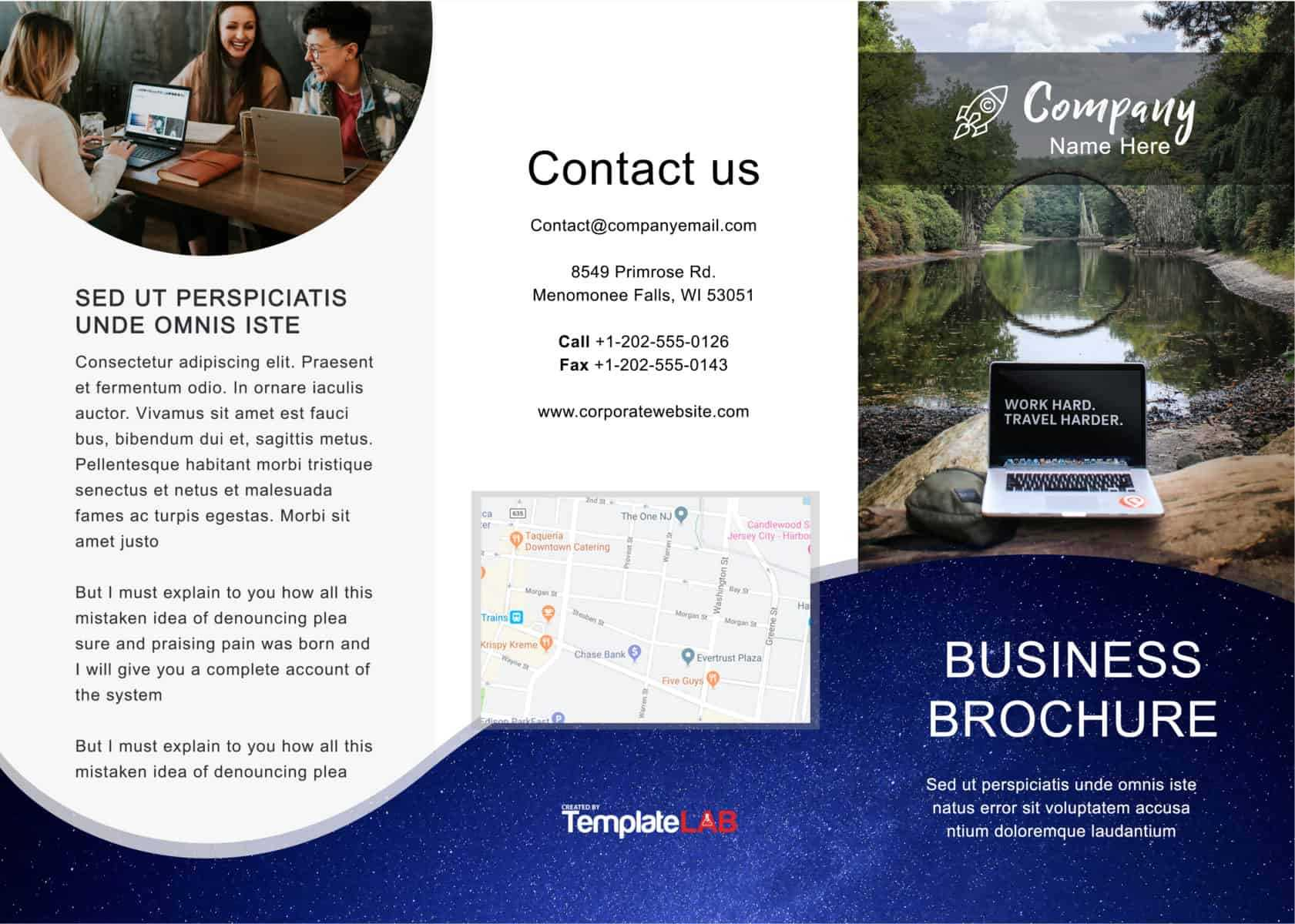 33 Free Brochure Templates (Word + Pdf) ᐅ Template Lab Inside Free Downloadable Flyer Templates