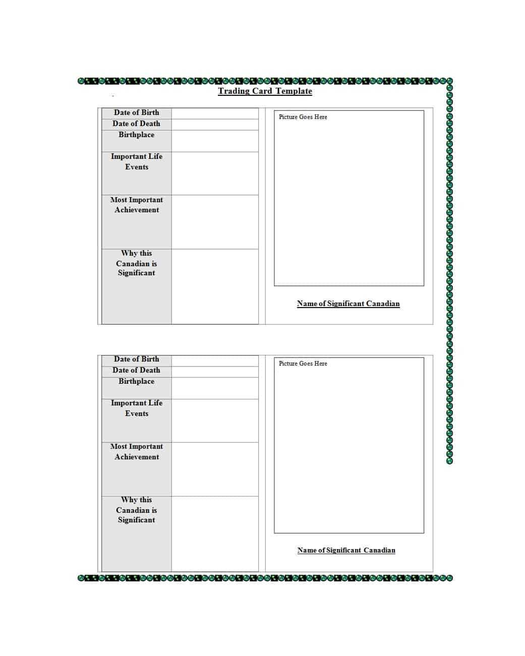 33 Free Trading Card Templates (Baseball, Football, Etc Pertaining To Free Trading Card Template Download