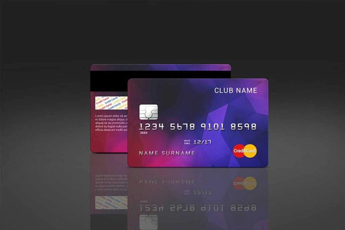 35 Free And Premium Credit Card Mockups – Colorlib With Credit Card Templates For Sale