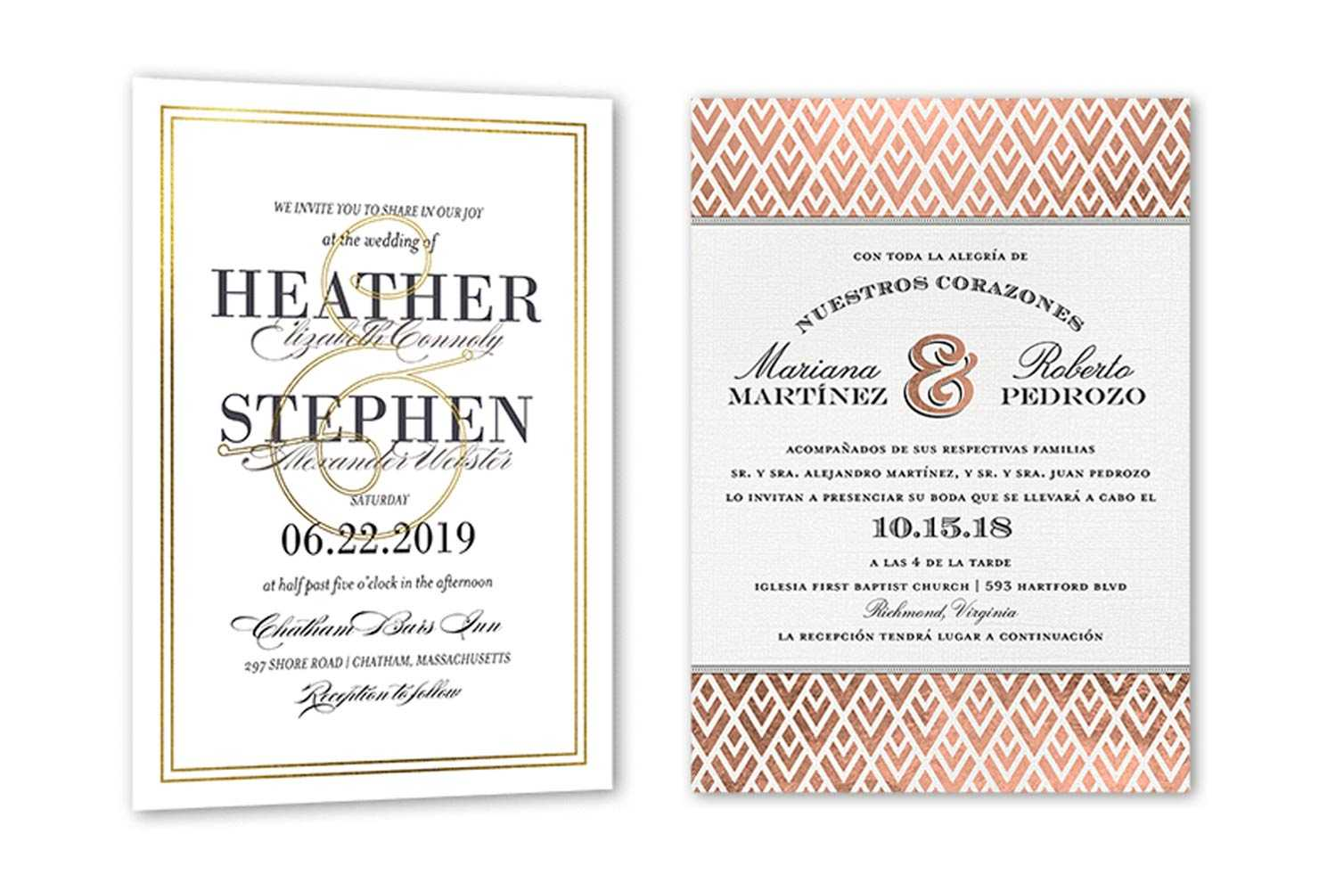 35+ Wedding Invitation Wording Examples 2020 | Shutterfly For Church Wedding Invitation Card Template