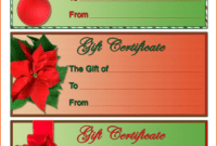 4 Christmas Gift Certificate Template Free Download | Survey in Free Christmas Gift Certificate Templates