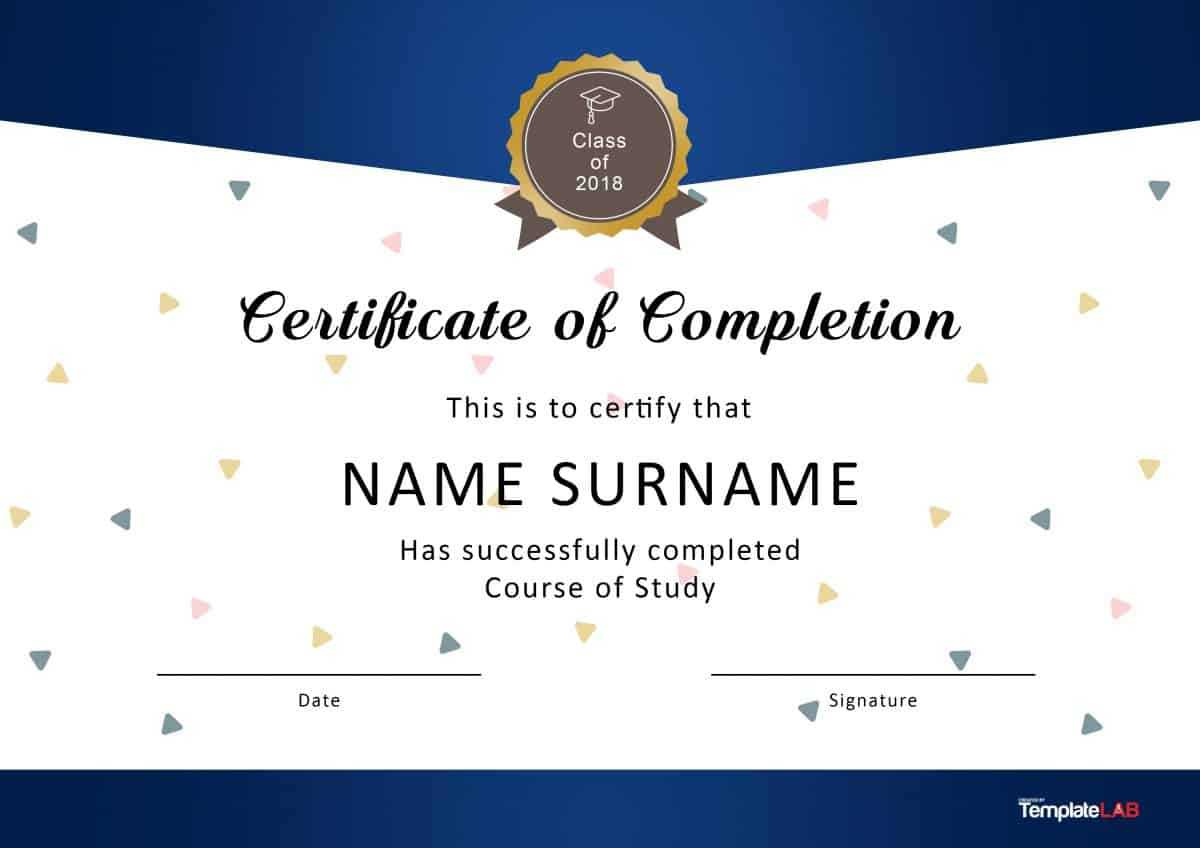 40 Fantastic Certificate Of Completion Templates [Word Throughout Free Certificate Of Completion Template Word