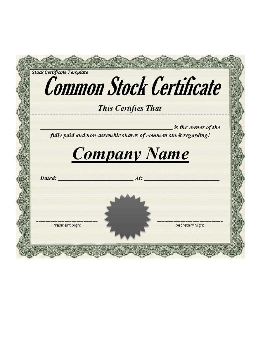 40+ Free Stock Certificate Templates (Word, Pdf) ᐅ Template Lab In Free Stock Certificate Template Download