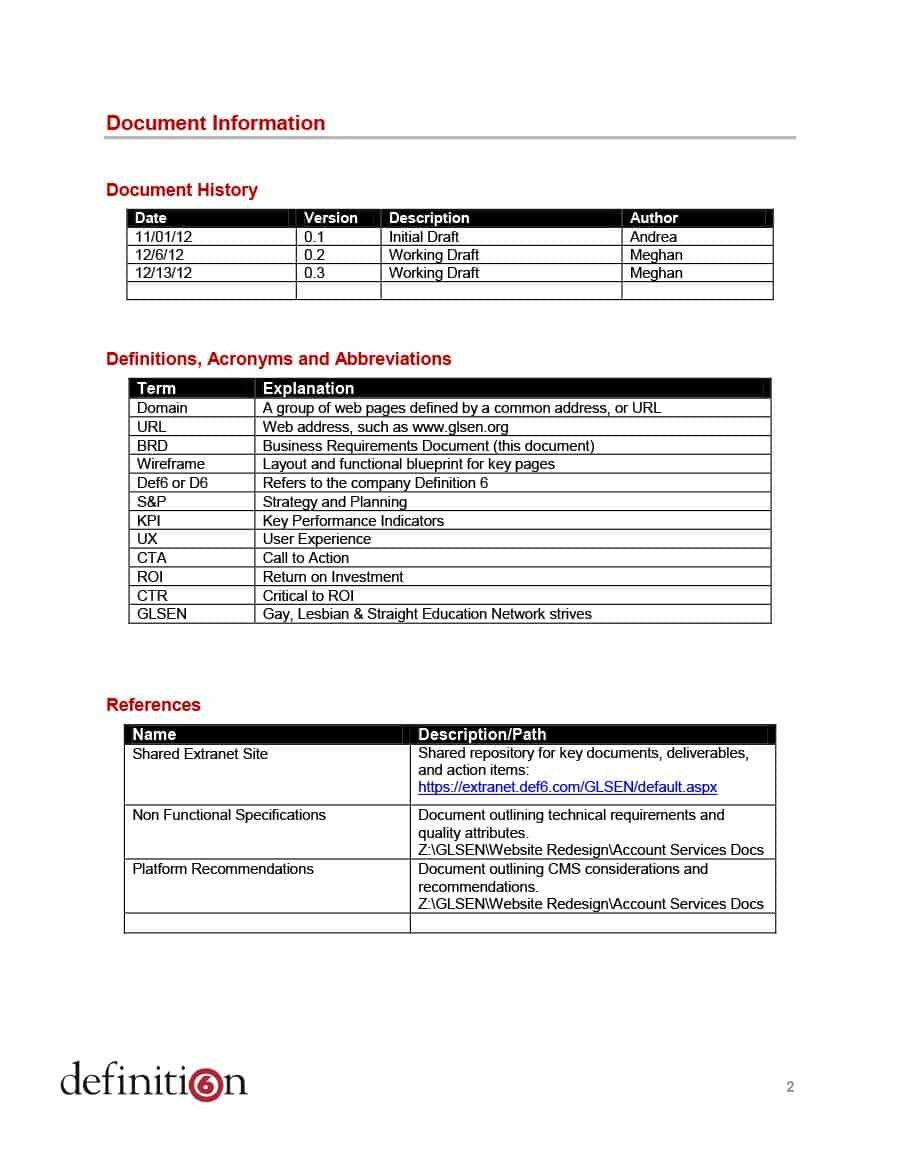 40+ Simple Business Requirements Document Templates ᐅ Within Free Document Templates For Business