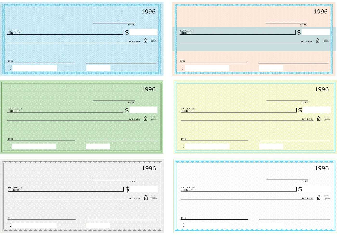 43+ Fake Blank Check Templates Fillable Doc, Psd, Pdf!! Throughout Customizable Blank Check Template